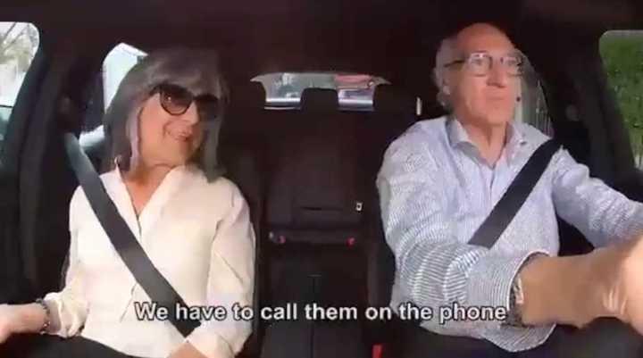 La invitación de Bianchi y la mujer a la fiesta