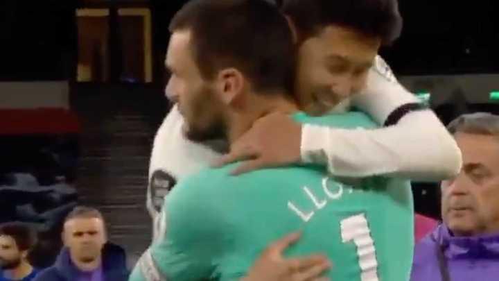 Son y Lloris se dieron un abrazo al final del partido