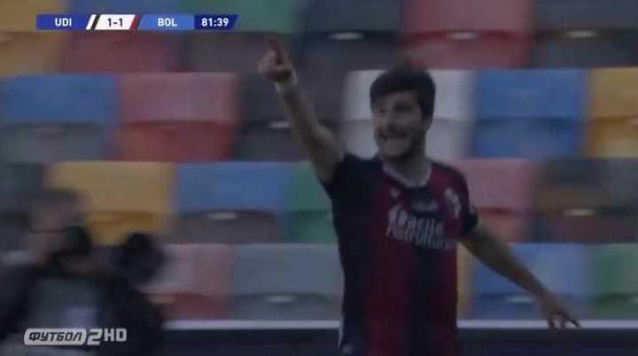 Musso bajó a Palacio y penal para el Bologna