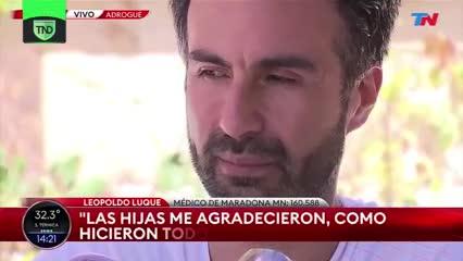 """Luque: """"Diego era como un papá para mí"""""""