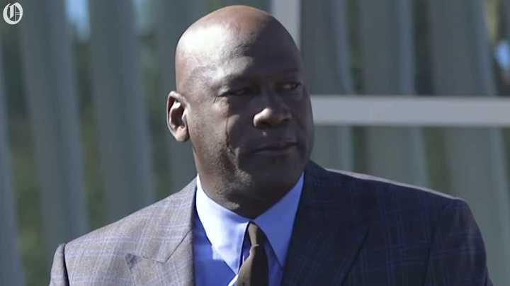 El llanto emocionado de Michael Jordan