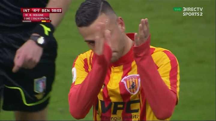 Insigne descontó para Benevento