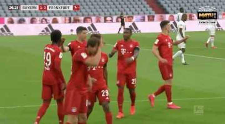 Goretzka marcó el 1 a 0 del Bayern Munich