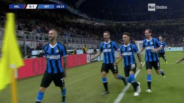 Inter se puso arriba en el clásico