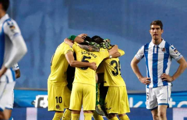 El gol del Villarreal a la Real Sociedad