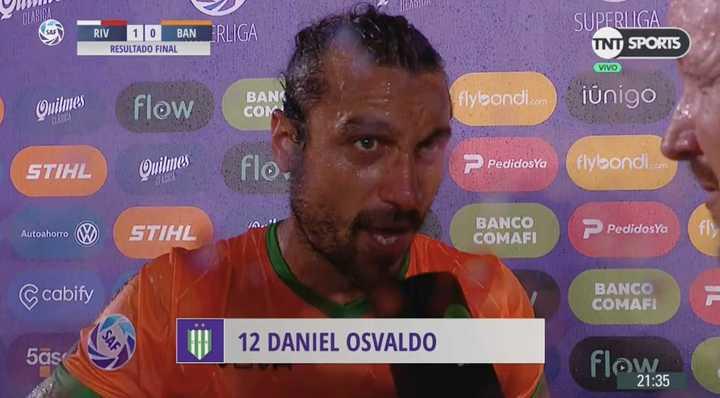 Osvaldo habló después del partido