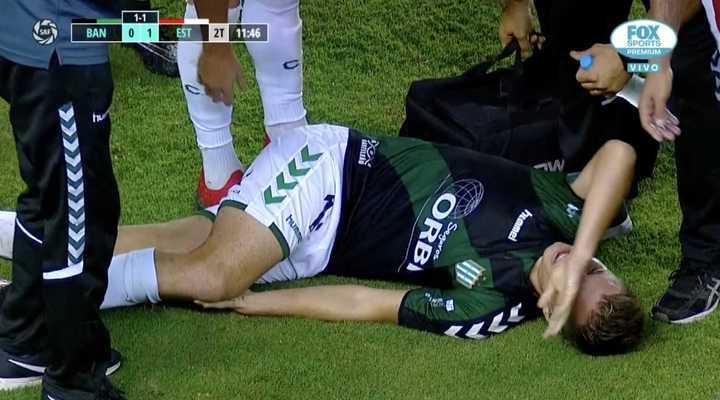 Giuliano Galoppo salió lesionado