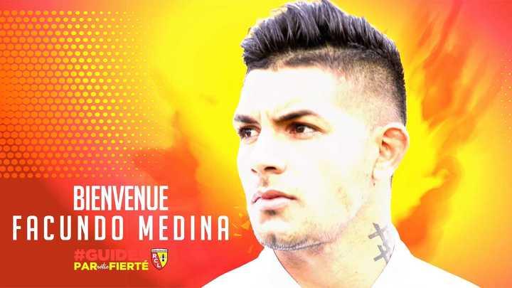 La presentación de Medina en el Racing de Lens