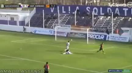 El 3-0 de Armenio a Sacachispas