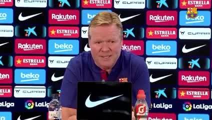Koeman habló sobre Messi