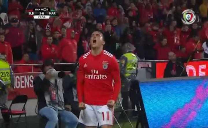 Presencia argentina en la goleada del Benfica