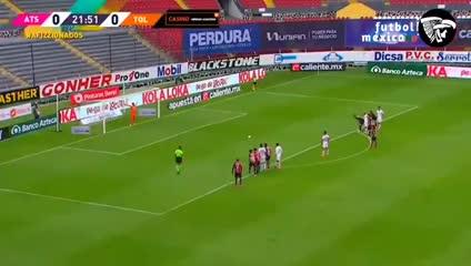 Los goles de Atlas-Toluca
