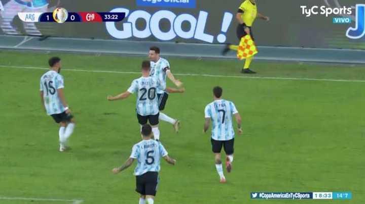 Golazo de Messi de tiro libre