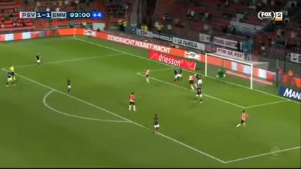 Maxi Romero le dio la victoria por 2-1 al PSV sobre el Emmen