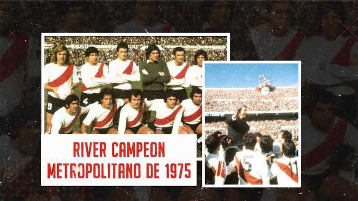 River campeón del Metropolitano 75
