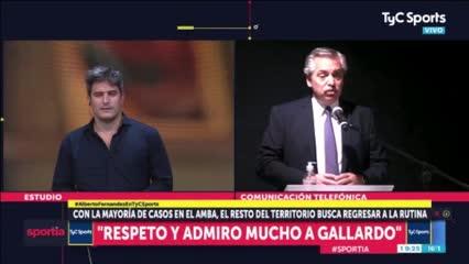 Alberto y su charla con Gallardo.