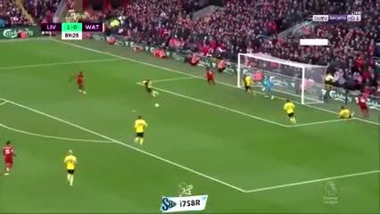 El golazo de taco de Salah para el 2-0 del Liverpool