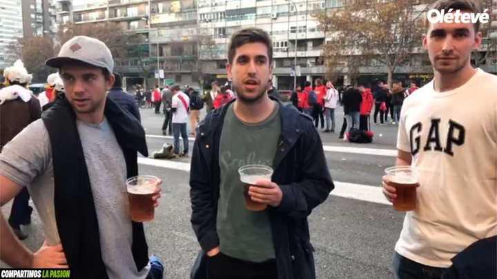 En España es normal el alcohol en el partido