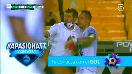 Ismael Sosa anotó el empate del Pachuca ante Tigres UANL