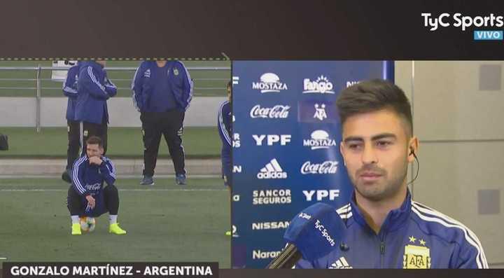 """""""Es un placer compartir un entrenamiento con Messi"""""""