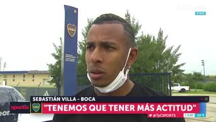"""Sebastián Villa: """"Tenemos que tener más actitud"""""""