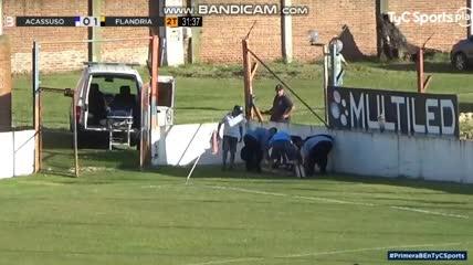 El 1-0 de Flandria a Acassuso y la suspensión del partido