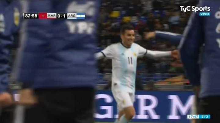 Argentina se puso 1 a 0 con gol de Correa