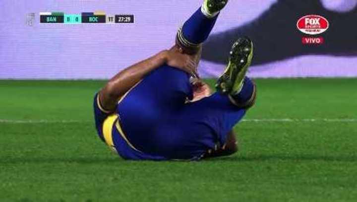Almirón salió lesionado