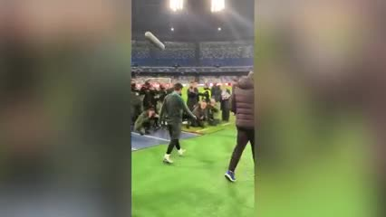 Messi pisó el San Paolo