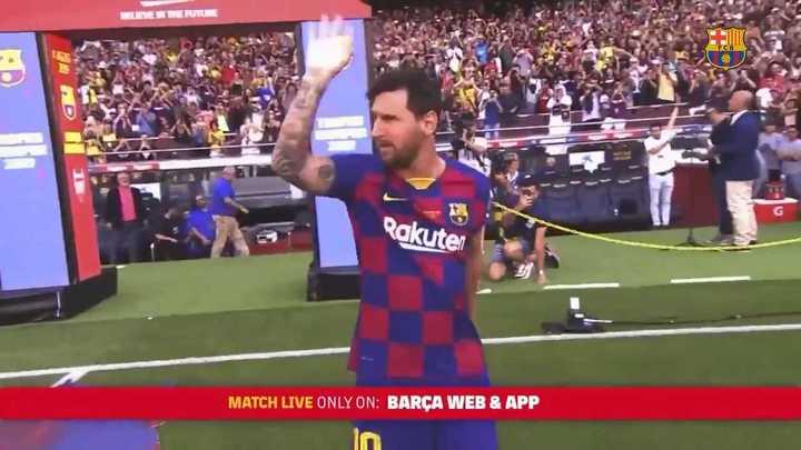 Así recibió el estadio a Lionel