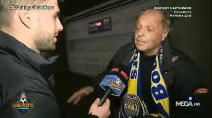 Giordano sufrió en las afueras del Bernabéu