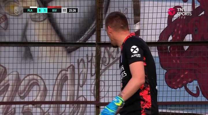 Armani se equivocó y le metieron un gol que fue invalidado