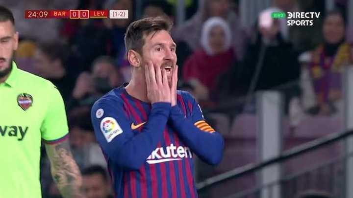 Messi no pudo convertir el primero