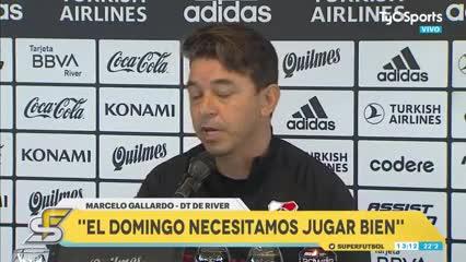 """Gallardo dijo que cree que River y Boca """"llegan igualados"""" al superclásico"""