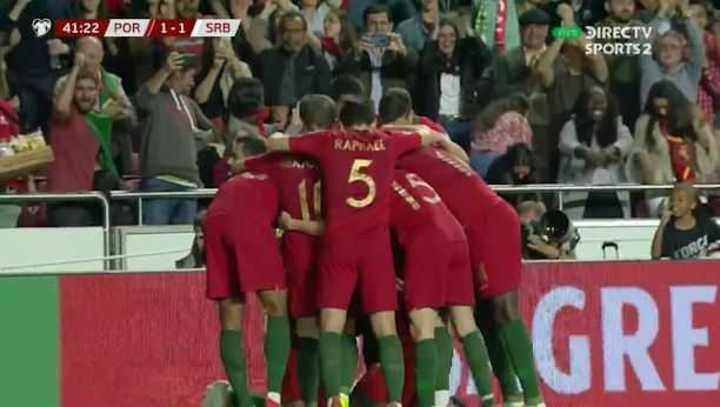 Portugal empató 1 a 1 con Serbia