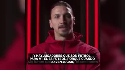 Zlatan Ibrahimovic le tiró flores a Ronaldo Nazario