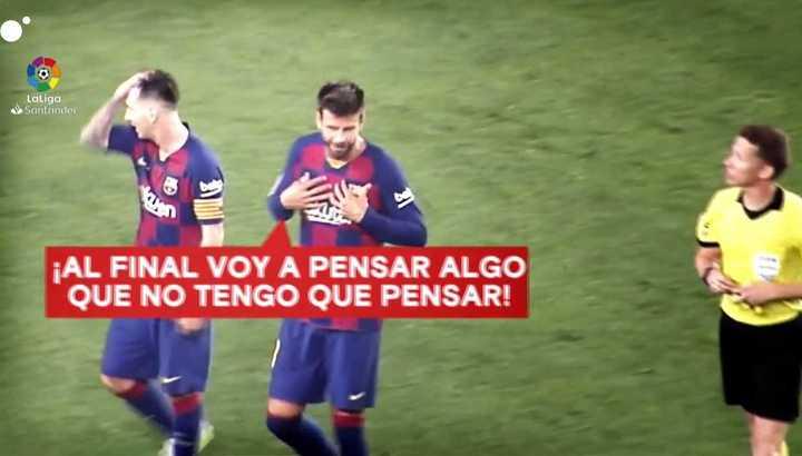 El reclamo de Piqué al árbitro de Barcelona-Atlético de Madrid