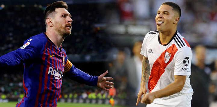 Messi y Juanfer, nominados al Puskás