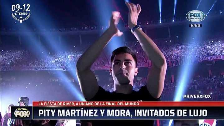 Pity Martínez presente en la fiesta de River