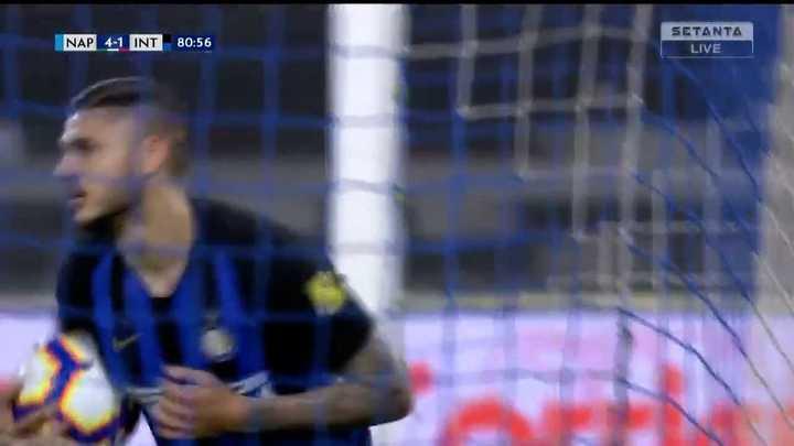 Icardi descontó de penal ante Napoli