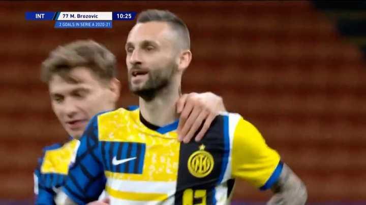 Los goles de la victoria del Inter ante Roma