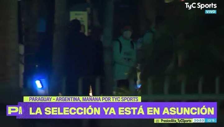 La Selección llegó a Paraguay