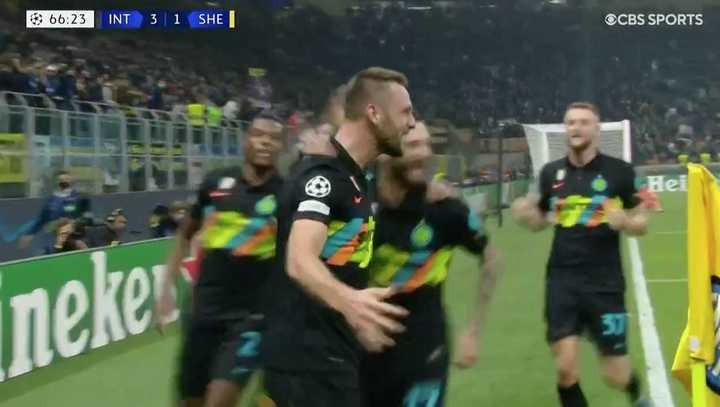Inter le ganó 3 a 1 a Sheriff