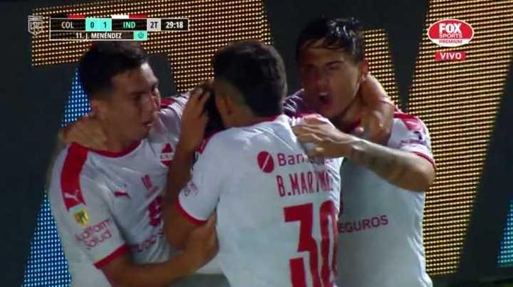 Menéndez marcó el primero del Rojo