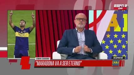 Cardona y lo que sintió al gritar el gol con Dalma Maradona