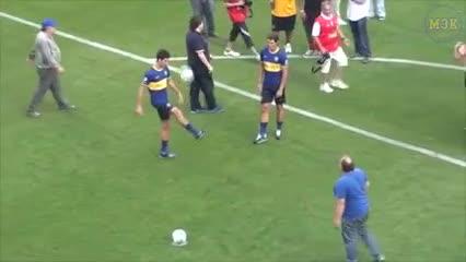 Rafael Nadal y un gol a Boca