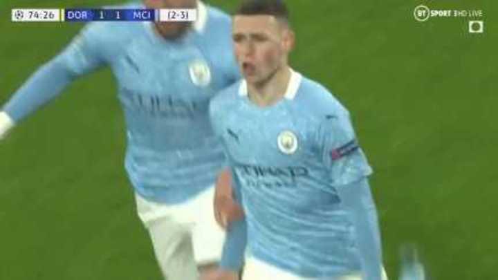 Foden marcó el 2 a 1 del Manchester City