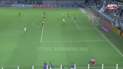 Los goles del 2-0 de Barcelona de Guayaquil ante el Santos