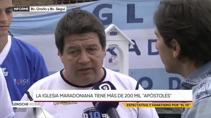 La Iglesia Maradoniana recibe a Diego en Rosario