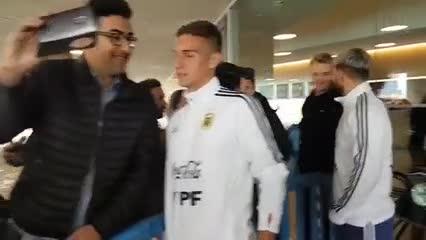 Selfies con los jugadores de la Selección